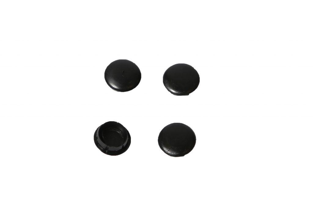 Deurscharnierdopje zwart